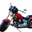 Colorful motorcycle - Stock Photo