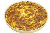 Homemade quiche pie — Stock Photo