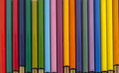 Used color pencils closeup — Stock Photo