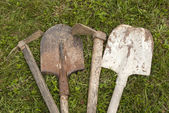 Used farm hand implements — Stock Photo