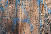 Weathered tin painted surface — Stock Photo