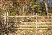 Wooden rural gate — Stock Photo