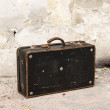 Old vintage suitcase — Stock Photo