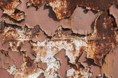 Metal weathered painted surface — Stock Photo