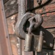 Stock Photo: Old latch and padlock