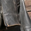 Stock Photo: Leather jacket sleeve closeup