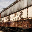 Stock Photo: Abandoned rusty railcars