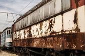 Abandoned rusty railcars — ストック写真