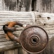 Stock Photo: Old rusty padlock