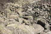 Old moraine rocks — Stock Photo