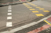 Street crossroad markings — Stockfoto