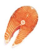 Salmon steak red fish — Stock Photo