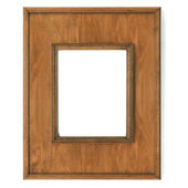 Vintage picture frame, wood plated, — Stock Photo