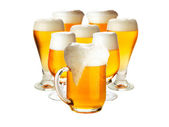 Glasses of beer isolated over white- excellent quality — Stock Photo