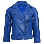 A blue leather jacket — Stock Photo