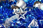 Kerstmis achtergrond met een close-up van een symbolische ster — Stockfoto