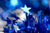 Blue christmas background — Stock Photo