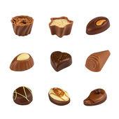 Mixed Chocolates — Stock Photo