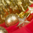 Royalty-Free Stock Photo: Golden christmas ball background