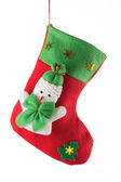 Santa's red stocking — Stock Photo
