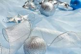 Beautiful blue Christmas balls — Stock Photo