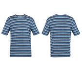 Modré pruhované tričko — Stock fotografie