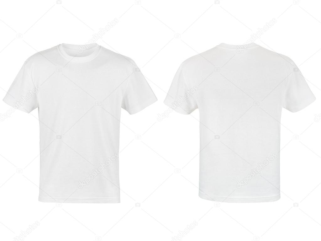 Two white T-shirt isolated on white background — Stock Photo #17188209