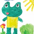 Stock Photo: Childrens drawings - frog