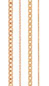 Cadenas de oro — Foto de Stock