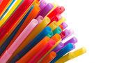 Multi Color flexible straws — Stock Photo