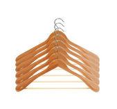 Wooden hanger set — Stock Photo