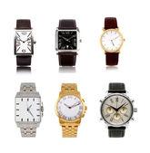 Un insieme di diversi orologi — Foto Stock