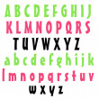 Pink Lime & Black  Alphabet - Stockfoto
