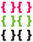 Pink Lime & Black Chunky Brackets — Stock Photo