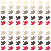 PInk & Tan Birds Paper — Stock Photo