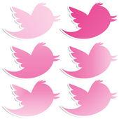 Růžový gradient ptáci — Stock fotografie