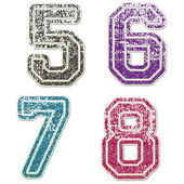 5 to 8 in College Glitter — Stock Photo