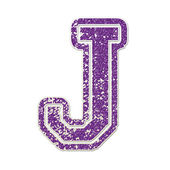 J in College Glitter — Stock Photo