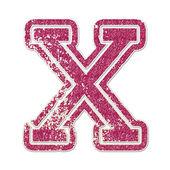 X in College Glitter — Stock Photo
