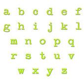 известь глянцевый тип нижнего алфавит — Стоковое фото