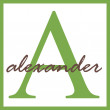 Alexander Name Monogram — Stock Photo #12200490