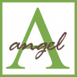 Angel Name Monogram — Stock Photo