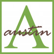 Austin Name Monogram — Stock Photo