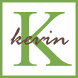 Kevin Name Monogram — Stock Photo