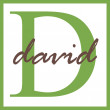 Stock Photo: David Name Monogram