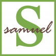 Samuel Name Monogram — Stock Photo