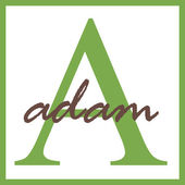 Adam Name Monogram — Stock Photo