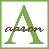 アーロン名モノグラム — ストック写真