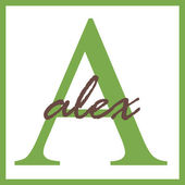 Alex Name Monogram — Stock Photo