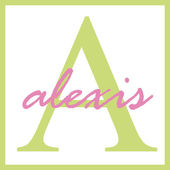 Alexis Name Monogram — Stock Photo